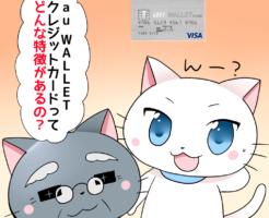 au WALLETクレジットカードってどんな特徴があるの?