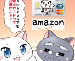 Amazonでも楽天カードってお得かニャ?