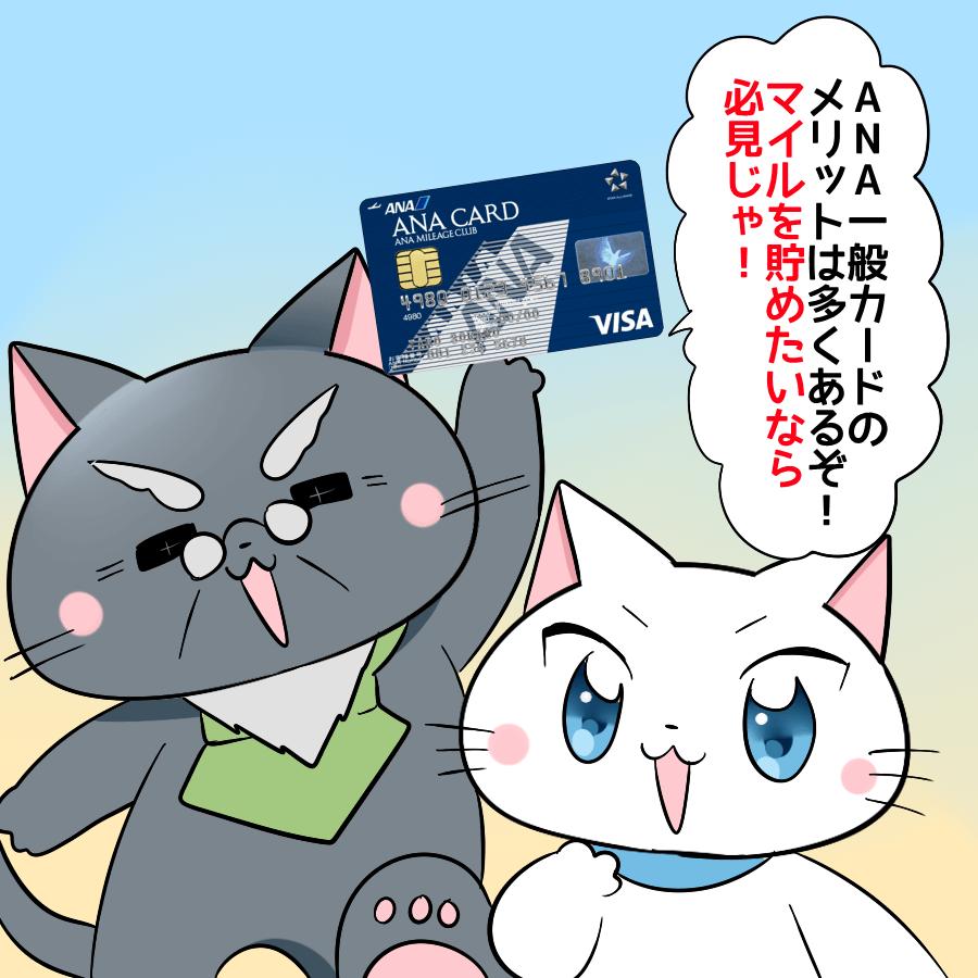 ANA一般カードのメリットは多くあるぞ!マイルを貯めたいなら必見じゃ!
