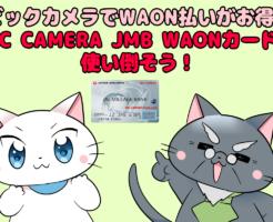 ビックカメラでWAON払いがお得! BIC CAMERA JMB WAONカードを使い倒そう!